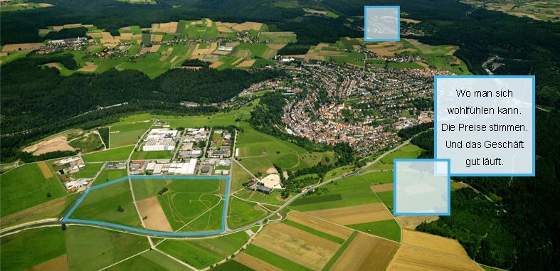 Luftaufnahme Gewerbegebiet Turmfeld