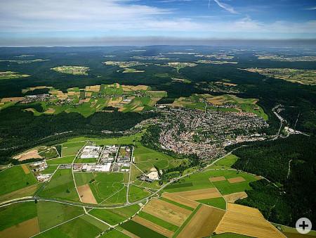 Luftaufnahme des Industrie- und Gewerbeparks